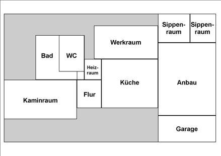 Raumaufteilung des Pfadfinderheims